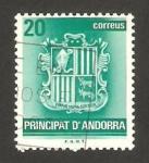 Stamps Andorra -  escudo de la villa