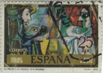 Stamps of the world : Spain :  Pablo Picasso-El pintor y la modelo-1978
