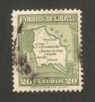 Sellos de America - Bolivia -  mapa