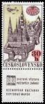 Sellos de Europa - Checoslovaquia -  CHEQUIA -  Centro histórico de Praga