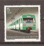 Stamps Germany -  Vehiculos construidos sobre railes en la DDR.