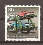 Sellos de Europa - Alemania -  Vehiculos construidos sobre railes en la DDR.