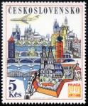 Stamps Czechoslovakia -  CHEQUIA: Centro histórico de Praga