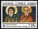 Stamps Asia - Cyprus -  CHIPRE: Iglesias pintadas de la región de Troodos