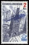 Stamps Czech Republic -  CHEQUIA: Centro histórico de Praga