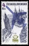 Stamps Europe - Czech Republic -  CHEQUIA: Centro histórico de Praga
