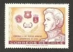 Stamps Chile -  412 - Homenaje a las Fuerzas Armadas y Carabineros de Chile