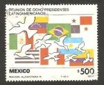 Sellos de America - México -  reunión de ocho presidentes de latinoamericana