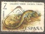 Sellos del Mundo : Europa : España : Lagarto verde