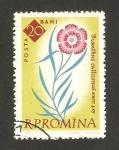 Sellos del Mundo : Europa : Rumania : flora, dianthus callizonus