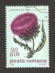 Sellos de Europa - Rumania -  flora, carduus nutans