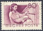Sellos de Europa - Hungría -  tejedora
