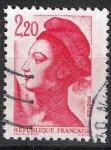 Stamps France -  Alegoría de la república.