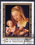 Stamps : Europe : Hungary :  Pinturas de Albecht Dürer. María a Gyermekkel