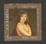 Stamps Poland -  pintura de helene, de rubens