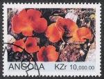 Stamps Africa - Angola -  SETAS-HONGOS: 1.104.011,01-Aleunia aurantia -Sc.1075
