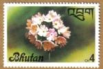 Sellos de Asia - Bhut�n -  Flores