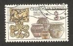 Stamps of the world : Czechoslovakia :  hrad nitra, arqueología