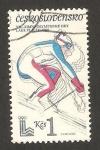 Stamps Czechoslovakia -  olimpiadas de invierno en lake placid, esquí