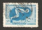Stamps : America : Uruguay :  XIV campeonato sudamericano de natación, montevideo 1958