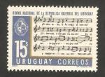 Sellos de America - Uruguay -  himno nacional de la república oriental de Uruguay