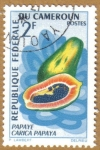 Sellos del Mundo : Africa : Camerún : Frutas - Carica Papaya