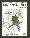 Sellos del Mundo : Africa : Cabo_Verde : ave, halcyon leucocephala, martín pescador
