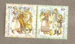 Stamps Ukraine -  Trajes regionales