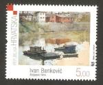 Stamps Croatia -  cuadro de ivan benkovic