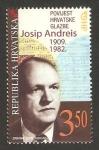 Stamps Croatia -  josip andreis, músico