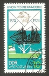 Stamps Germany -  centº del U.P.U., barcos