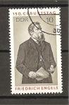 Sellos de Europa - Alemania -  150 Aniversario del nacimiento de Frederic Engels.
