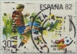 Sellos de Europa - España -  copa mundial de futbol España´82-1981