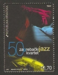Stamps Croatia -  50 anivº del cuarteto de jazz de Zagreb