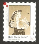 Stamps Croatia -  cuadro moderno croata, de nives kavuric kurtovic