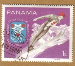 Sellos de America - Panamá -  JJOO de Grenoble 1968
