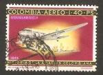 Stamps : America : Colombia :  Avión Douglas DC 3