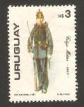 Stamps Uruguay -  uniforme militar, colegio militar 1885