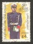 Stamps America - Uruguay -  liceo militar, general artigas