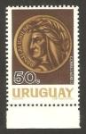 Stamps : America : Uruguay :  293 - dante alighieri