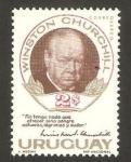 Stamps Uruguay -  winston churchill