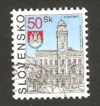 Stamps Slovakia -  vista de komarno