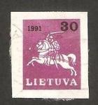 Sellos del Mundo : Europa : Lituania : guerrero a caballo