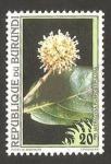 Stamps Africa - Burundi -  flora, mitragyna rubrostipulosa