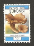 Stamps Africa - Burundi -  hongo, russula ingens buyck