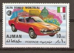 Stamps United Arab Emirates -  AUTOMÓVIL
