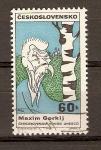 Stamps Czechoslovakia -  CARICATURA  DE  MAXIM  GORKL
