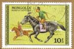 Sellos de Asia - Mongolia -  Caballos