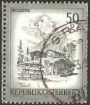 Sellos de Europa - Austria -  vista de zillertal