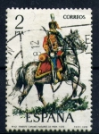 Stamps Spain -  teniente coronel husares de pavia 1909